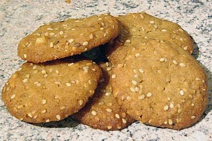 Erdnuss - Sesam - Plätzchen 13