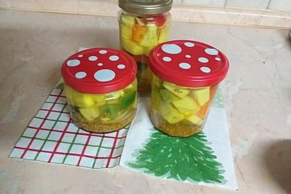 Süß - sauer eingelegte Zucchini (Bild)