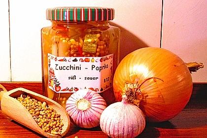Süß - sauer eingelegte Zucchini 1