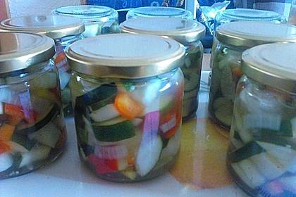 Süß - sauer eingelegte Zucchini 6