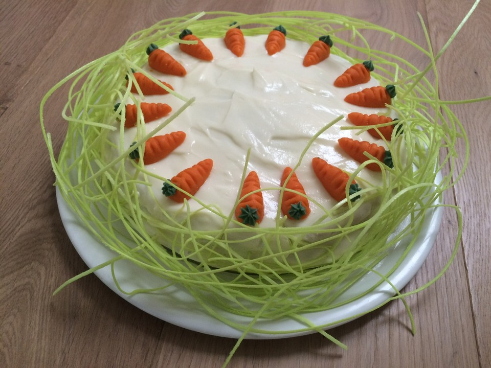 Karottenkuchen Mit Frischkaseguss Von Annaia Chefkoch De