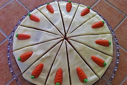 Karottenkuchen mit Frischkäseguss 5