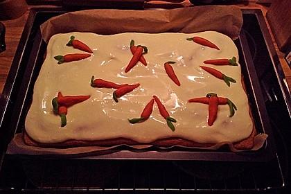 Karottenkuchen mit Frischkäseguss 22