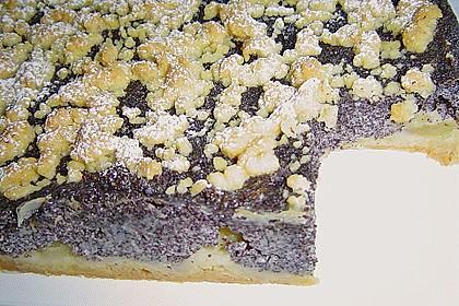Mohn - Apfelkuchen mit Butterstreuseln 3