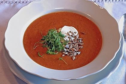 Suppe von roten Linsen