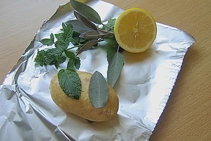 Zitronenmelisse - Salbei - Folienkartoffeln