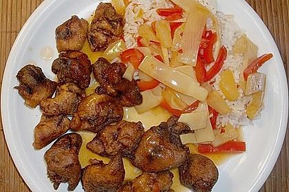 Gebackenes Schweinefleisch süß - sauer 6