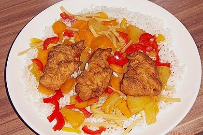 Gebackenes Schweinefleisch süß - sauer 10
