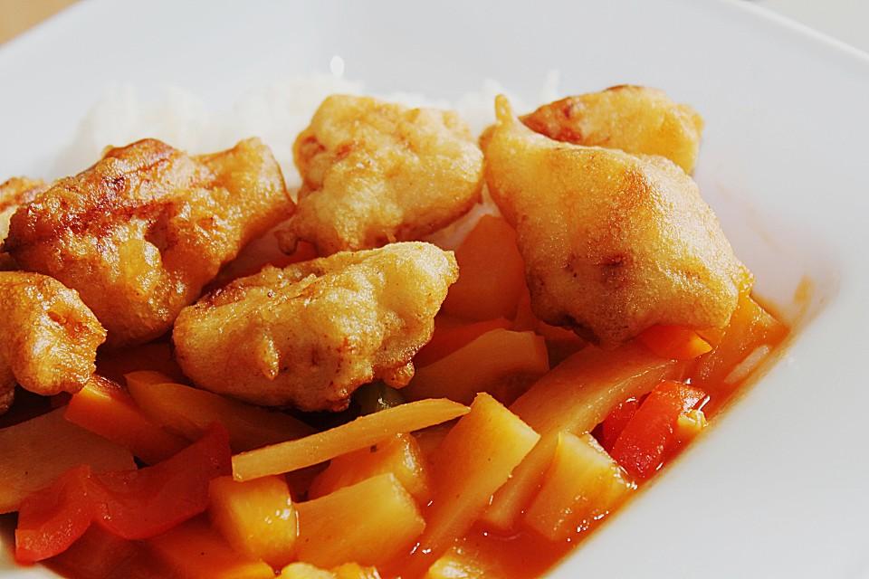 hähnchen süß sauer chinesisch