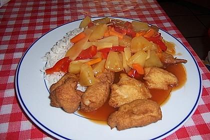 Gebackenes Schweinefleisch süß - sauer 5