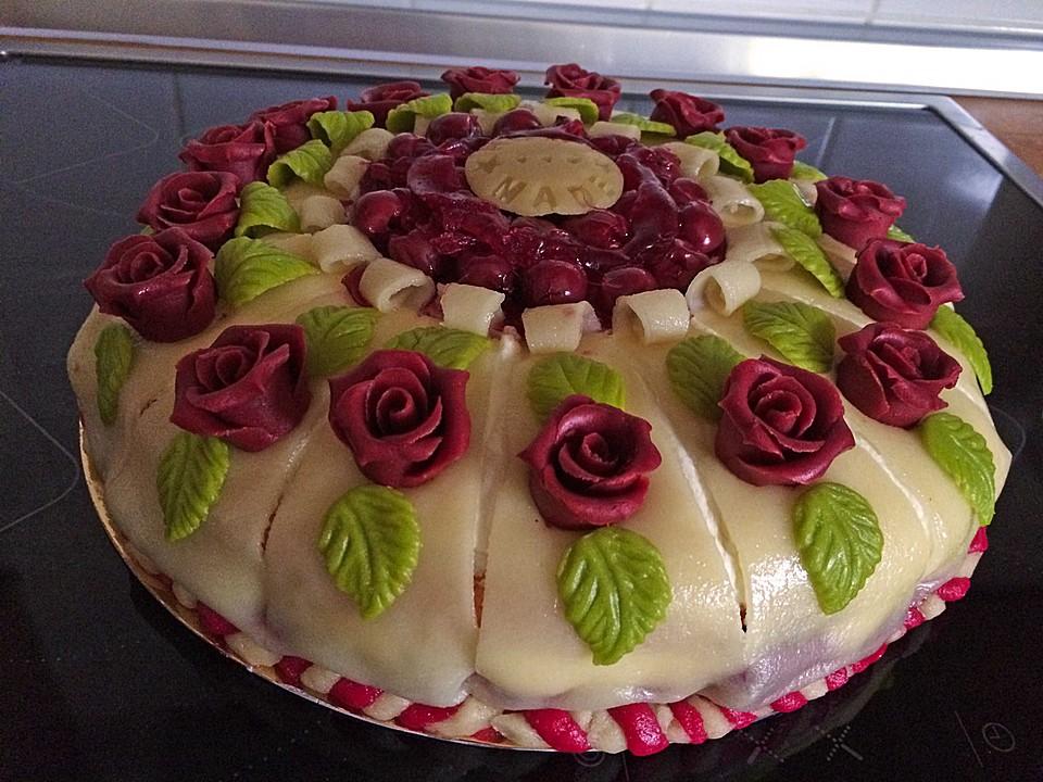 Marzipan Kirsch Torte Von Rike2 Chefkoch De