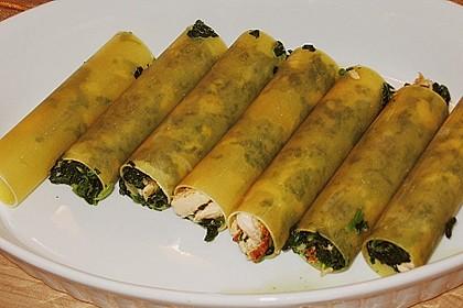 Feuermohns gefüllte Lachs Spinat Cannelloni 10
