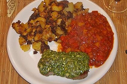 Kräuter - Steaks mit Tomatengemüse 1