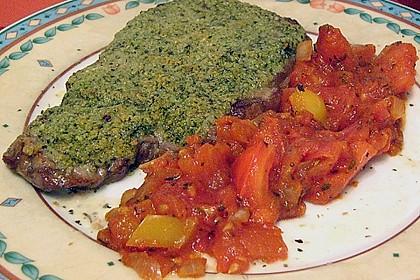 Kräuter - Steaks mit Tomatengemüse