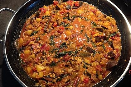 Auberginen - Kartoffel - Curry 1