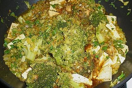 Blumenkohl - Linsen - Curry mit Tofu 3