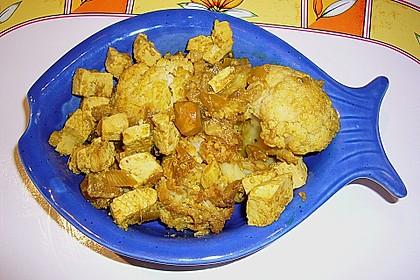 Blumenkohl - Linsen - Curry mit Tofu 2