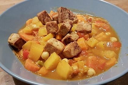 Kürbis - Tofu - Pfanne (Bild)