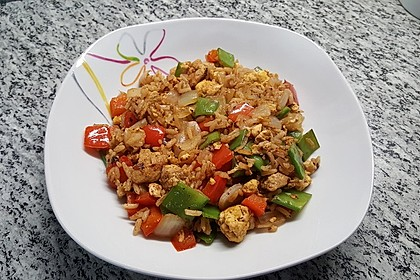 Gebratener Reis mit Hühnchen 4