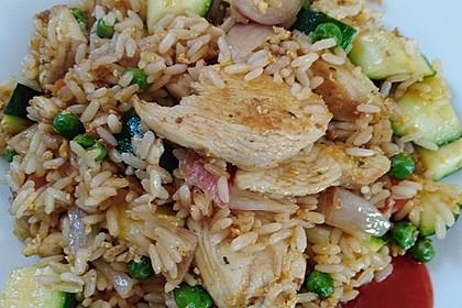 Gebratener Reis mit Hühnchen