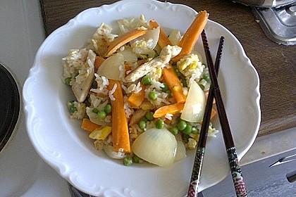 Gebratener Reis mit Hühnchen 2