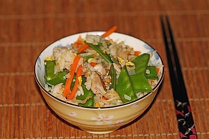 Gebratener Reis mit Hühnchen 1