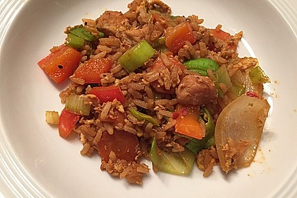 Gebratener Reis mit Hühnchen 5