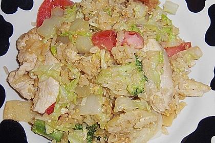 Gebratener Reis mit Hühnchen 8