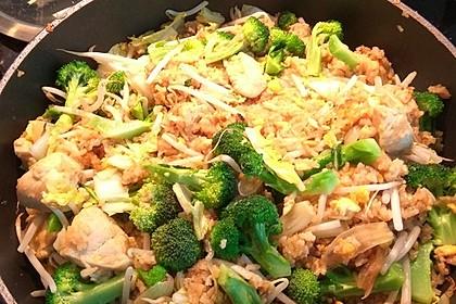 Gebratener Reis mit Hühnchen 6