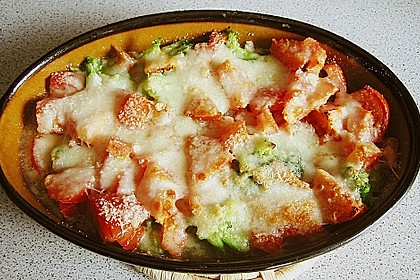 Überbackener Brokkoli mit Tomaten 9