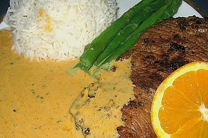Rindersteak mit Orangen - Wacholder - Sauce 1