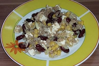 Kidneybohnen - Salat mit Thunfisch und Käse 6