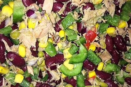 Kidneybohnen - Salat mit Thunfisch und Käse 5