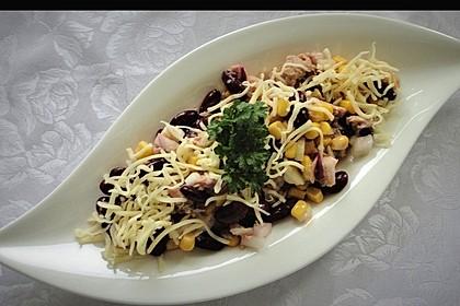 Kidneybohnen - Salat mit Thunfisch und Käse 1
