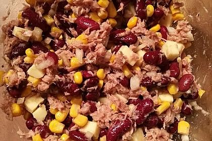 Kidneybohnen - Salat mit Thunfisch und Käse 4
