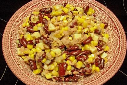 Kidneybohnen - Salat mit Thunfisch und Käse 8