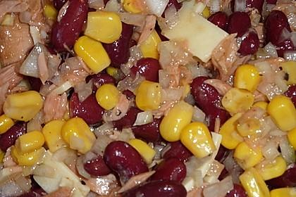 Kidneybohnen - Salat mit Thunfisch und Käse 7