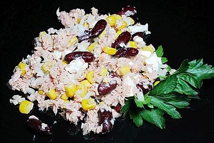 Kidneybohnen - Salat mit Thunfisch und Käse 3