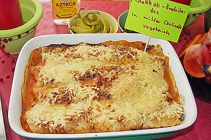 Brokkoli - Enchiladas in milder Chilisauce 2