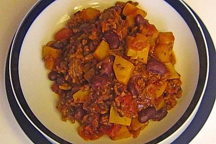 Kartoffeln mit Chili con Carne
