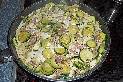 Gnocchipfanne mit Zucchini und Speck 15