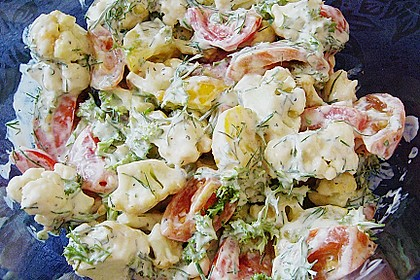 Sommerfrischer Blumenkohlsalat
