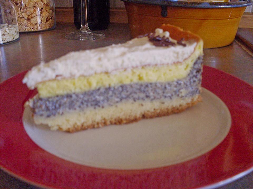 Mohn Schmand Torte Von Fantasy Chefkoch De