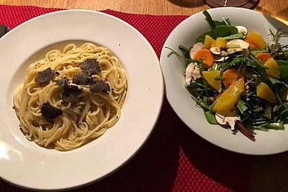 Spaghetti mit Trüffelöl 3