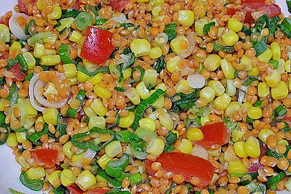 Roter Linsen - Salat 11