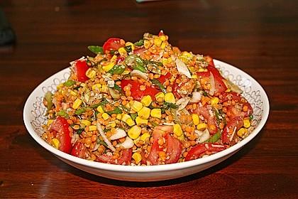 Roter Linsen - Salat 5
