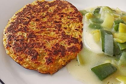 Gemüsepuffer mit Kartoffeln, Zucchini und Möhren 5
