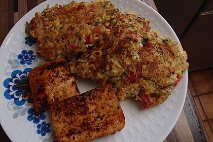 Gemüsepuffer mit Kartoffeln, Zucchini und Möhren 17