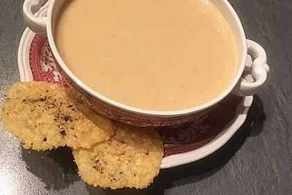 Knoblauchsuppe mit Parmesan 7