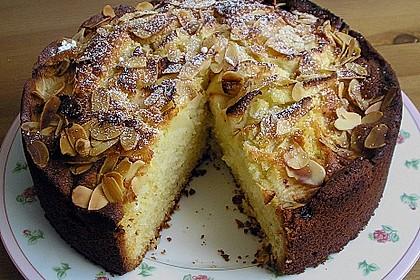 Apfelkuchen mit Mandeln (Bild)